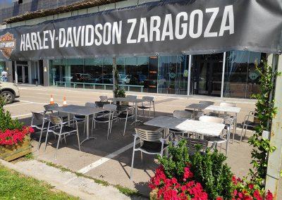 Terraza_84burgercafe_HarleyDavidsonZaragoza